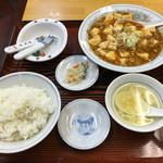 ぎょうざの満洲 - 「マーボ豆腐セット」799円