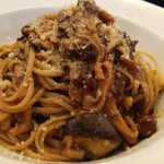 Pasta Pasta - 茸とモッツァレラチーズ入りハッシュドビーフのパスタ。
