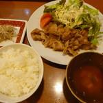ダイニング ハル - 豚の生姜焼き定食(850円)