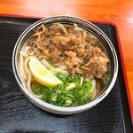 麺処 綿谷 - 牛肉ぶっかけ小
