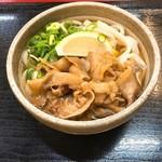 麺処 綿谷 - 豚肉ぶっかけハーフ