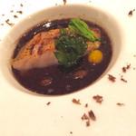 フランス料理 レ・セレブリテ - のどぐろのポワレ  トリュフソースの下には茶碗蒸しが隠れています。これは濃厚で美味しかった♡