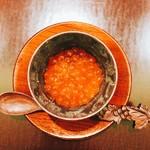 日本料理 太月 - いくらの下に茶碗蒸しがある 2016-9