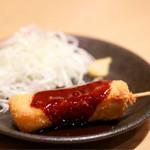 宮きしめん竹三郎 - みそ串カツ