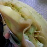 ロリアンクレープ - 生クリーム抹茶ミルク ¥350