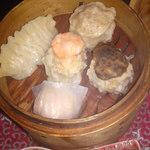 56252132 - 海老蒸し餃子「ハーガオ」が美味し❣️                       椎茸焼売は別のに変わってまふ。