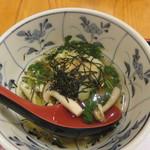 ぎょうざ工房 - 高菜おこげの雑炊風2