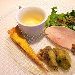 オッキオ デル ティフォーネ - 前菜です。 (^_^)b
