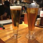 テング酒場 - 2016/09 グラスビール 356円、うーろんちゃ 216円