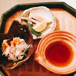56256487 - 毛蟹共味噌かけ 焼き松茸