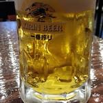 立川ビアホール - ランチセットCの生ビール300円を一番搾りで どっしりとしたフォルムが素敵♪