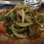 CHINA TABLE 花木蘭 - ゴーヤも入ったさっぱり酢豚。黒酢の味わいがベスト。