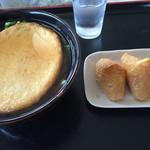 たちばな - 料理写真:丸天うどん=490円 いなり=210円