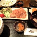 ひびき黒豚劇場 - 101104_黒豚生姜焼定食