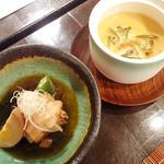 にかいのおねぎや 笹木 - 肉料理、茶碗蒸し