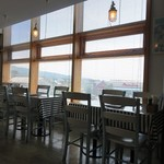 イタリア食堂トンノ - 窓からは奈半利町が一望できる