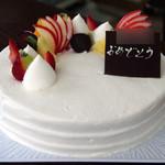 56266002 - バースデーケーキ(レアチーズケーキ)