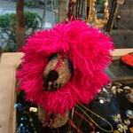 光原社 可否館 - ピンクたてがみのライオンの お顔    とぼけたお目々