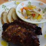 サイゼリヤ - 骨付きポークのオーブン焼き
