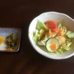 キッチン 五斗米 - 料理写真:ミニサラダと漬物