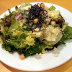 ステーキハウス松木 - セットのサラダ(トッピングはフルセット)