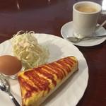 珈琲 庵 - 料理写真:ブレンドコーヒー380円とエッグトーストのモーニング