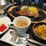 和風レストラン 魚勝 - サービス ステーキセットです。 2016/09/19