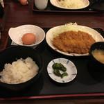 包丁や - チキンカツ定食550円