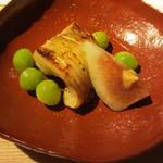 56279303 - 焼肴 鯧味噌柚庵焼 無花果 新銀杏