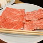 松阪亭 三澤 - 料理写真:しゃぶしゃぶの肉150gX2