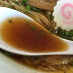 いっぱいいっぱい - 中華そば(760円)スープ