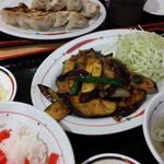 福よし - なす味噌炒め定食700円