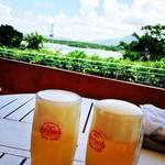 カビラカフェ - キンキンに冷えたオリオンビールは最高に美味しいです!
