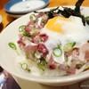 ほざき - 料理写真:2016年7月 さばネギ丼【680円】軽く醤油で。卵がまた合うわ~(´▽`)