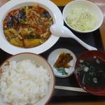 華正樓 - ファーム白石さん幻のナスと豚肉の香味炒め定食