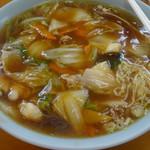 華正樓 - 広東麺(醤油)大盛