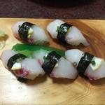 56287006 - チョウザメのお寿司です。