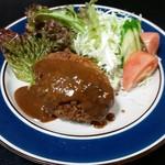くまさんの台所 - ミンチカツ680円(ご飯、スープ付)