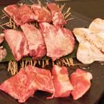 an牛 - お肉5点盛り(3000円)