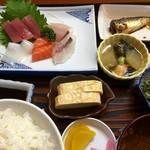 びんび - お刺身定食(750円)(2016.09現在)