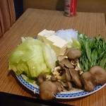 風の盆 - 鍋の野菜