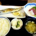 海ぼうず - 新さんま塩焼刺身2点定食!