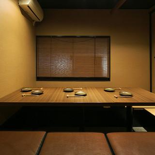 各種接待や宴会、パーティーに最適な半個室や完全個室を完備