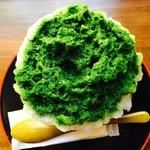大阪浪花家 - 氷宇治 真上から〜〜