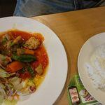 ガスト - チキンと野菜のトマト煮ランチ