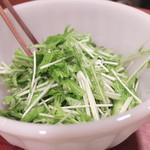 亜細亜割烹 蓮月 - 青唐辛子と胡瓜と香菜のサラダ