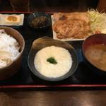 56316574 - 麦とろ豚ロースしょうが焼き定食(850円)