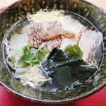 ばさら 梅々庵 - 鯛にゅう麺 単品950円 いなりor塩昆布ごはん付1050円