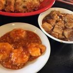 56320514 - セットのエビチリ&麻婆豆腐