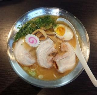 とんとんラーメン - 辛糀味噌ラーメン750円辛味噌抜・煮玉子トッピング/平成28年9月